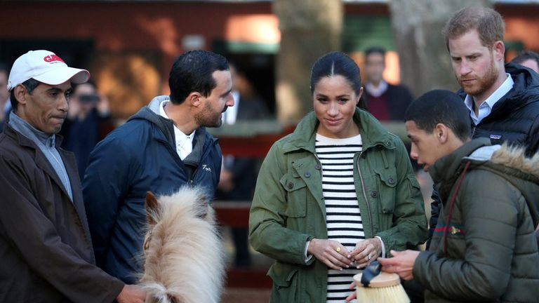 The couple earlier visited the Moroccan Royal Federation of Equitation Sports