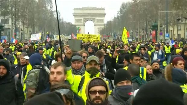 Protests have continued again in Paris this weekend