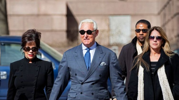 Roger Stone posted an edited photo of the judge ruling over his case