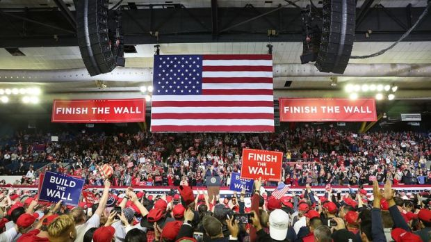 Mr Trump addressed a rally in El Paso, Texas