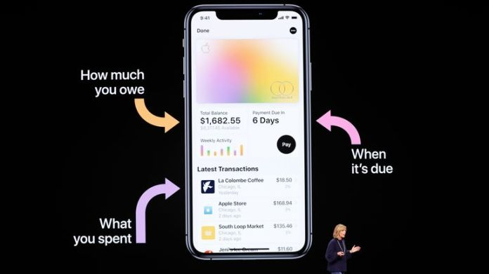 Jennifer Bailey VP Apple Pay at Apple, speaks during an Apple special event at the Steve Jobs Theater