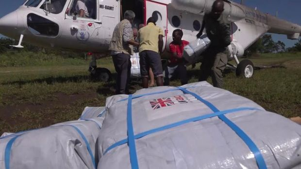 Much of the aid has come from Britain