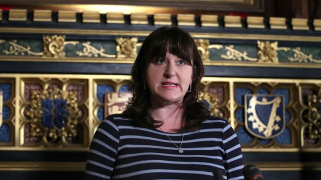 Ruth Smeeth MP speaking at an Association of Jewish Refugees event in the Houses of Parliament in Westminster, London, on the 80th anniversary of the Kindertransport scheme.