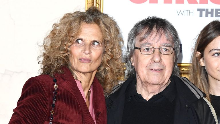 """Suzanne Wyman and Bill Wyman attend the """"Surviving Christmas With The Relatives"""" world premiere at the Vue West End on November 21, 2018"""