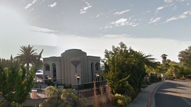 A shooting at the synagogue has left at least two injured. Pic: Google Street View