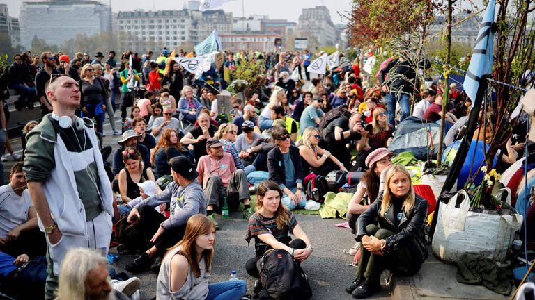 Activists on Waterloo Bridge