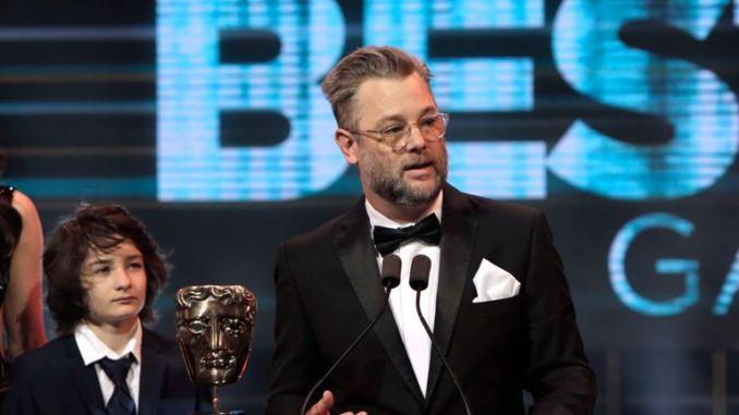 Cory Barlog has won Best Game award for  'God of War' Pic: BAFTA/Hannah Taylor
