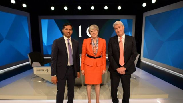 Faisal interviewed Theresa May in the run up to the 2017 election alongside Jeremy Paxman