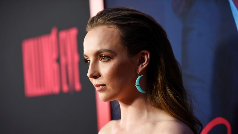 Jodie Comer plays psychopathic assassin Villanelle in the hit series