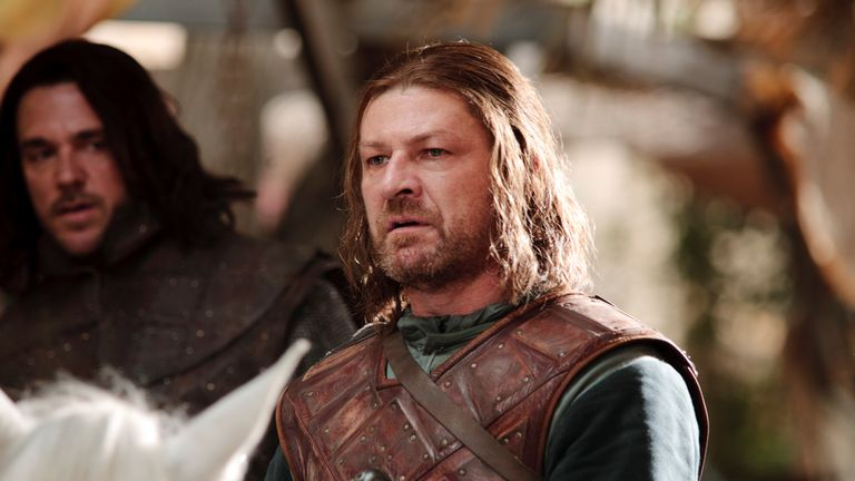 Sean Bean as Ned Stark in the first season of Game Of Thrones