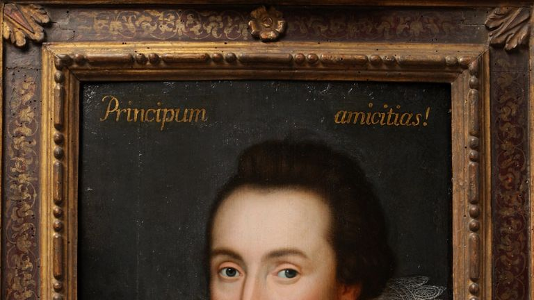 A painting of William Shakespeare from The Shakespeare Birthplace Trust