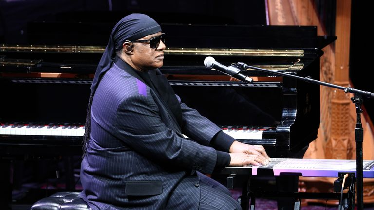 Stevie Wonder performed at the ceremony