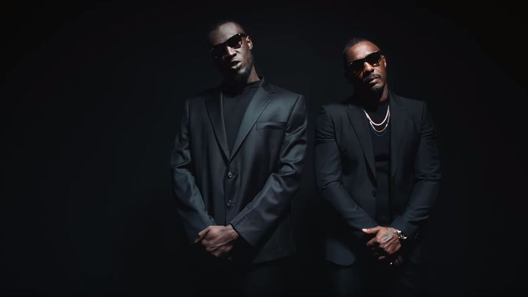 Stormzy's video for Vossi Bop features a cameo from Idris Elba. Pic: Stormzy/ YouTube