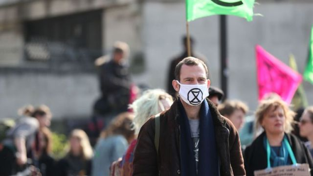 Activists converge on Marble Arch in central London