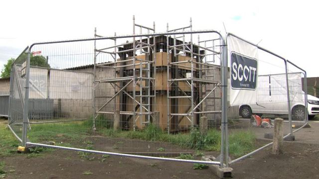 Work has started to relocate the Banksy mural in Port Talbot