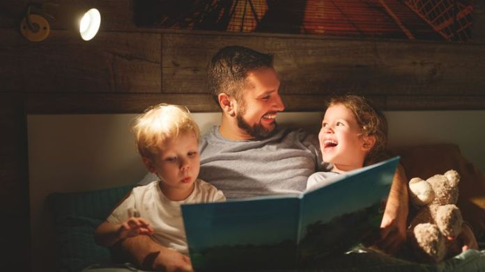 Many parents say they do not have the time or energy to read their children a bedtime story