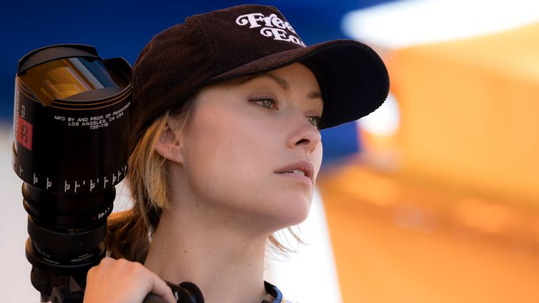 Olivia Wilde on the set of her directorial debut BOOKSMART, an Annapurna Pictures release..Credit: Francois Duhamel / Annapurna Pictures.