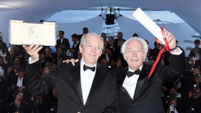 """CANNES, FRANCE - MAY 25: Luc Dardenne and Jean-Pierre Dardenne, winners of the Best Director Award for the film """"Le Jeune Ahmed"""", pose at thewinner photocall during the 72nd annual Cannes Film Festival on May 25, 2019 in Cannes, France. (Photo by Pascal Le Segretain/Getty Images)"""