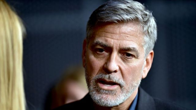George Clooney was at a premiere for his new show