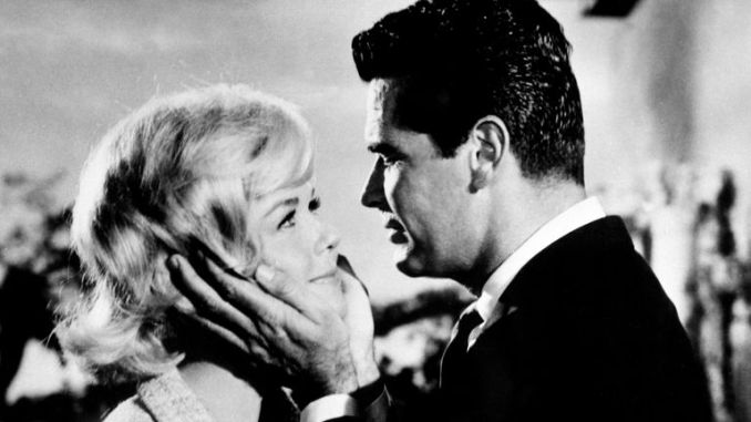 Doris Day and James Garner in a scene from Move Over, Darling