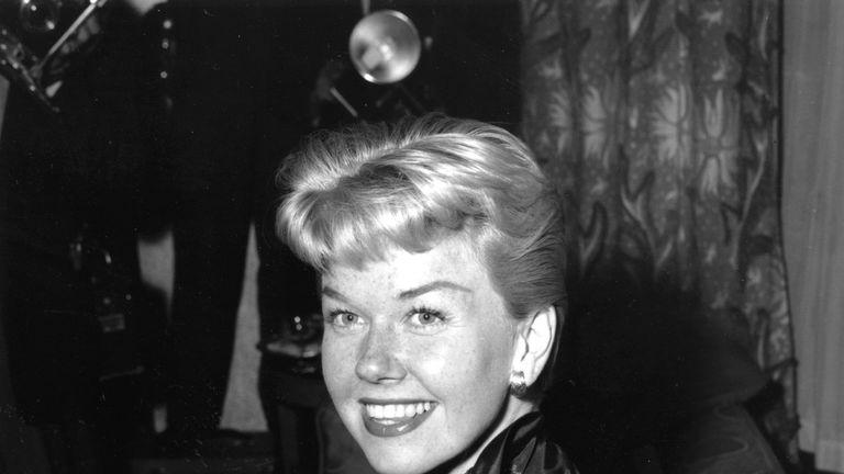 Doris Day pictured at Claridges Hotel in London in April 1955