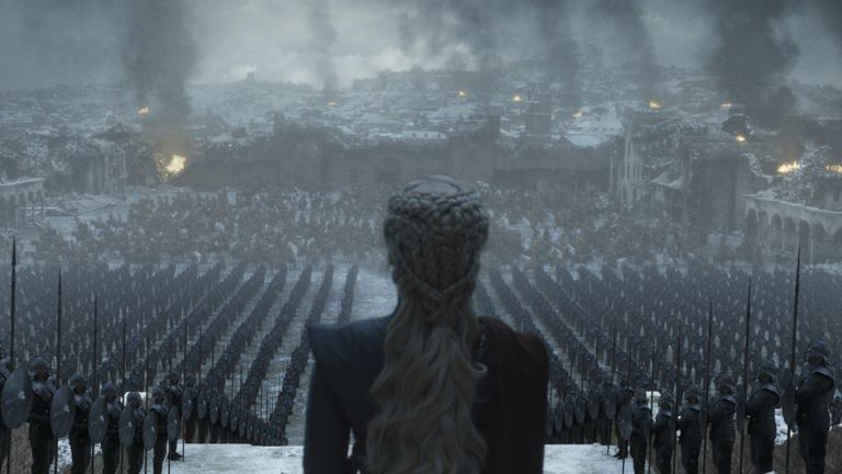 Emilia Clarke as Daenerys Targaryen. Pic: HBO/Sky Atlantic