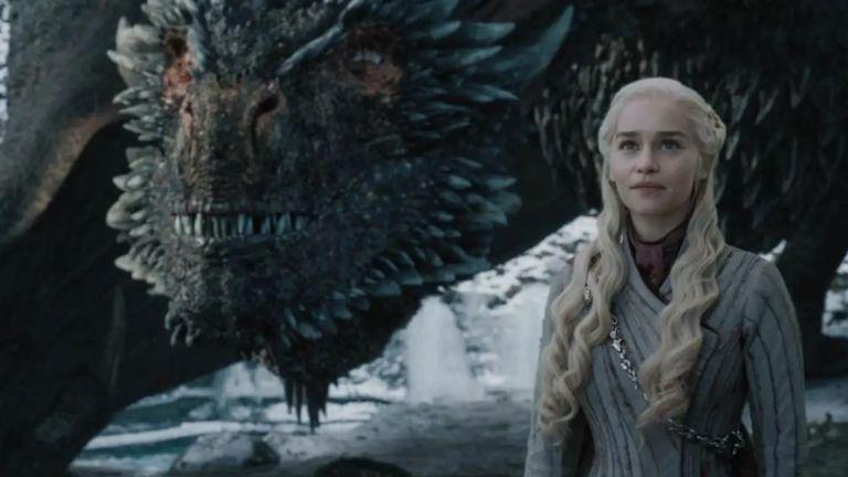 Emilia Clarke as Daenerys Targaryen in Game Of Thrones season eight. Pic: Sky Atlantic/ HBO