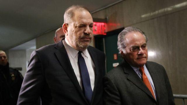 Weinstein with his lawyer Benjamin Brafman