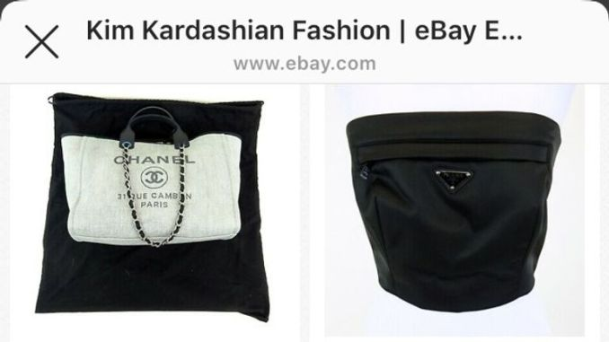 Kim Kardashian sells clothes on ebay for charity