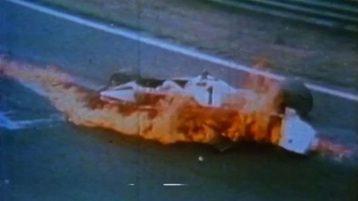 NIKI LAUDA Loses Control And Crashes Into The Flames CR-BRUNSWICK FILMS