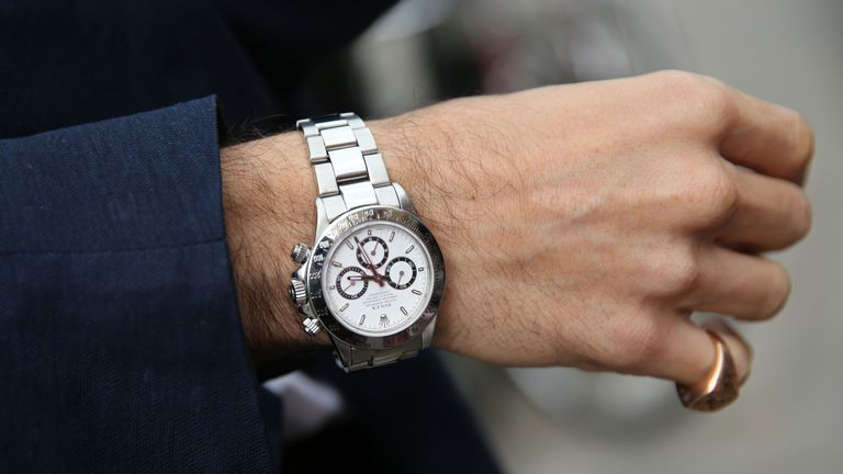 Spencer says his 1991 vintage Rolex Daytona Zenith was the only piece not stolen