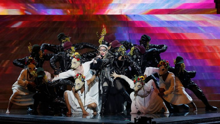Organisers reminded Madonna Eurovision is 'non-political'