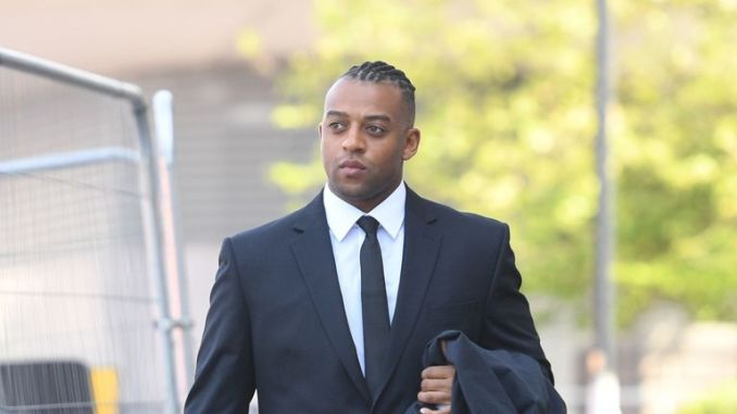 Oritse Williams arrives at Wolverhampton Crown Court where he is due to go on trial charged with raping a woman after a concert