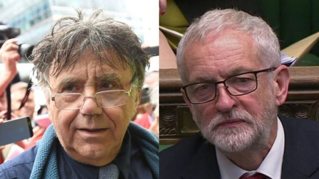 Peter Willsman (left) is a close ally of Jeremy Corbyn
