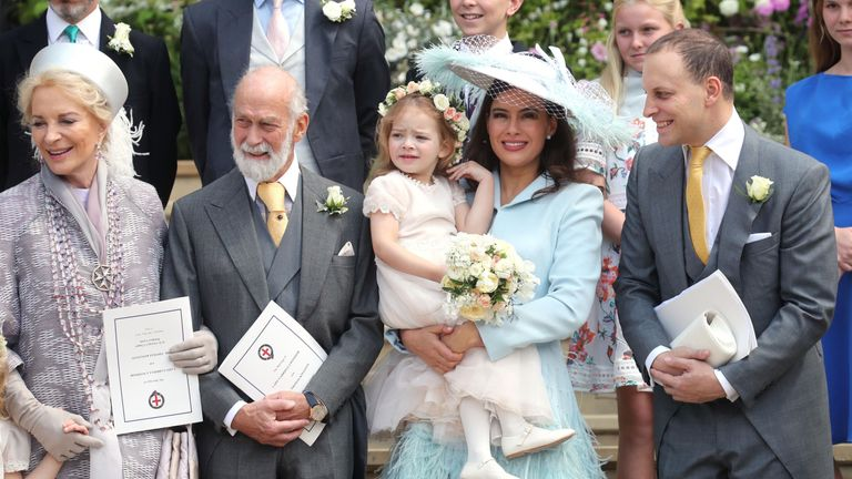 Princess Michael of Kent, Prince Michael of Kent, Sophie Winkleman and Lord Frederick Windsor