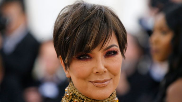 "Kris Jenner arrives at the Metropolitan Museum of Art Costume Institute Gala (Met Gala) to celebrate the opening of ""Heavenly Bodies: Fashion and the Catholic Imagination"" in the Manhattan borough of New York, U.S., May 7, 2018. REUTERS/Eduardo Munoz"