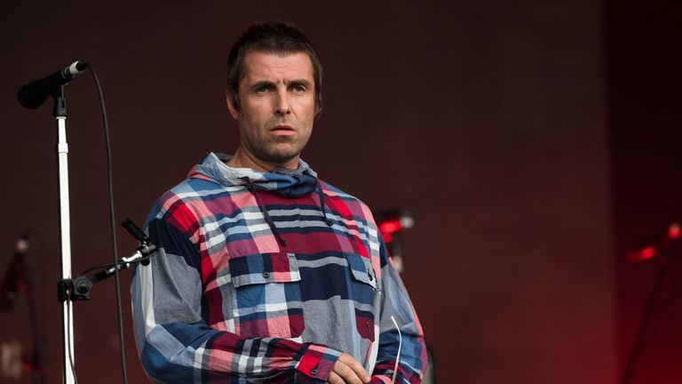GLASTONBURY, ENGLAND - JUNE 29: Liam Gallagher performs on the Pyramid stage on day four of Glastonbury Festival at Worthy Farm, Pilton on June 29, 2019 in Glastonbury, England. (Photo by Ian Gavan/Getty Images)