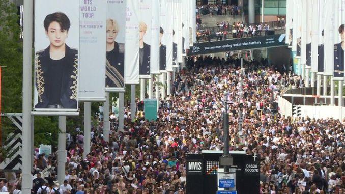60,000 saw BTS perform at Wembley on Saturday night