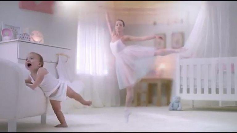 Baby milk advert shows girls becoming ballerinas