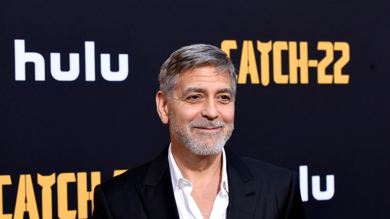 George Clooney attends the premiere of Hulu's Catch-22 on May 7, 2019 in Hollywood, California