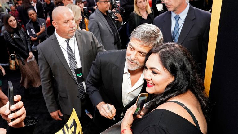 """George Clooney attends the premiere of Hulu's """"Catch-22"""" on May 07, 2019 in Hollywood, California"""