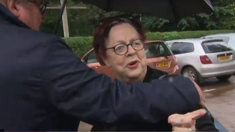 Jo Brand has come under fire after joking about throwing battery acid at politicians