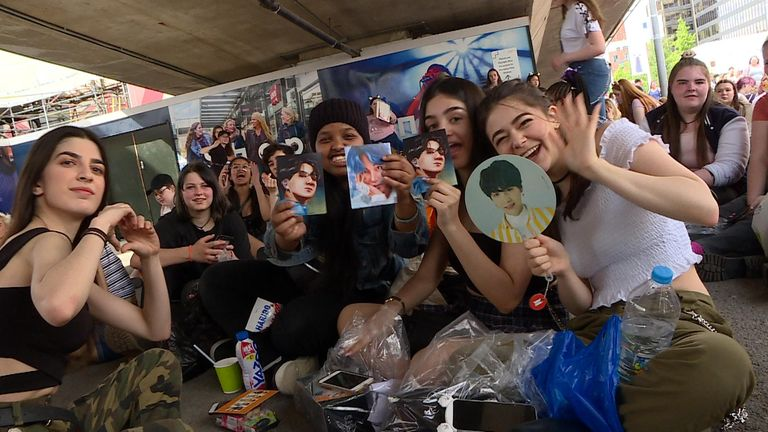 Fans flocked from across Europe to attend the concert