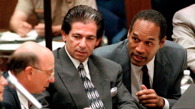 Robert Kardashian (left) was part of Simpson's legal team during his 1995 trial