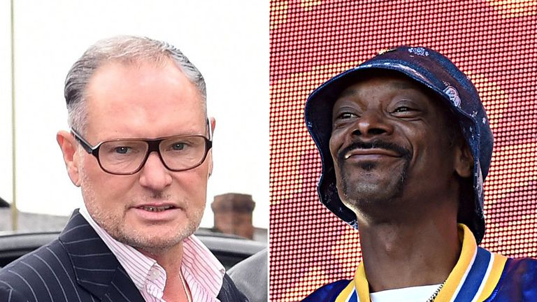 Snoop Dogg posted a picture comparing how he and Paul Gascoigne looked at the ages of 47 and 20