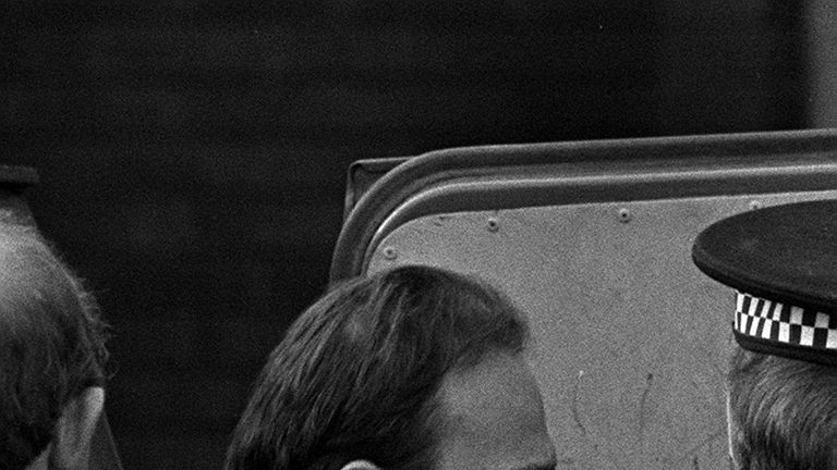 File photo dated 15/2/1988 of Ian Simms at St Helen's Magistrates Court. The murderer who has refused for more than 30 years to disclose what he did with his victim's body has reportedly been allowed out of jail on temporary release.