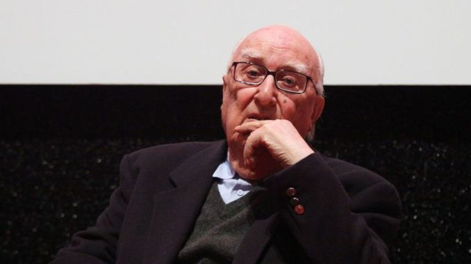 Writer Andrea Camilleri speaks on stage at Rome Film Festival in 2010