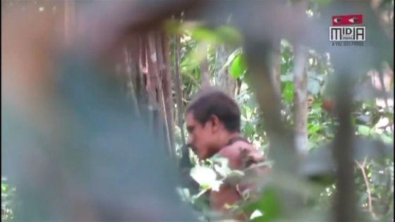A member of Brazil's Awa Amazon tribe