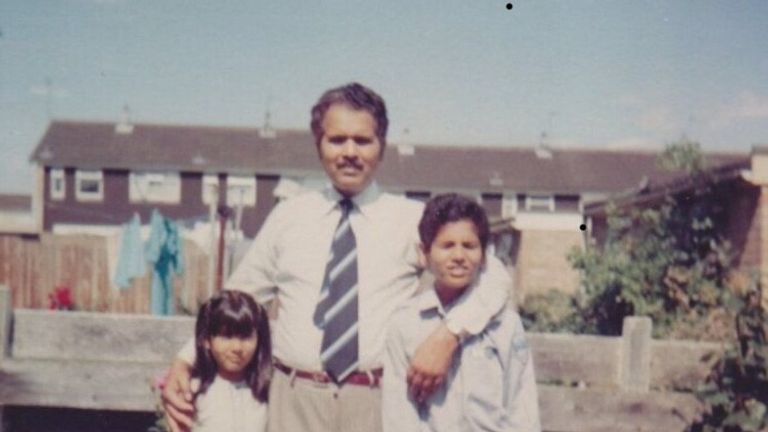 Blinded By The Light: Bruce Springsteen fan Sarfraz Manzoor with his sister and father in the 1980s
