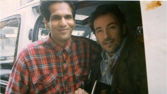 Blinded By The Light: Journalist Sarfraz Manzoor with his inspiration, Bruce Springsteen